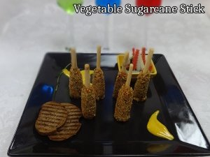 Vegetables On Sugarcane Sticks