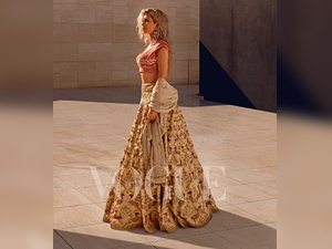 Kim Kardashian Wearing Anita Dongre For Vogue