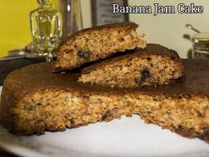 Banana And Jam Cake Recipe