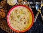 Navratri Special Sabudana Sweet Potato Kheer Recipe