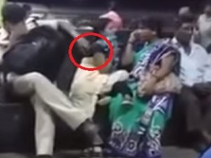 Video Of Police Molesting A Woman At Railway Station Is Viral