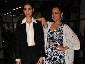 Diana Penty Sonakshi Sinha Pull Off Contrasting Looks A Movi