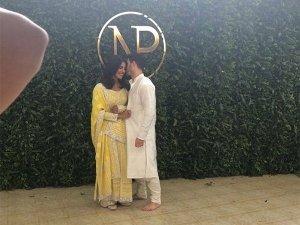 Priyanka Chopra And Nick Jonas Roka Outfits Are Just Exquisite