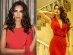 Esha Gupta Disha Patani Red Gown Photoshoot