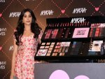 Janhvi Kapoor Pink Floral Dress At Nykaa Event