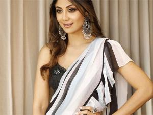 Shilpa Shetty S Ruffled Sari An Event Melbourne