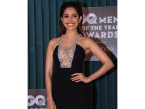Nushrat Bharucha Black Gown Photoshoot At Gq Men The Year Awards