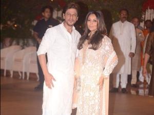 Shah Rukh Gauri Khan Warm Hued Outfits Ganesh Chaturthi