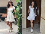 Janhvi Kapoor Disha Patani S White Dresses Photoshoot