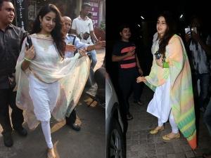 Sara Ali Khan Janhvi Kapoor Salwar Suits Photoshoot