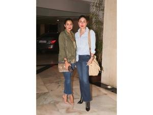 Kareena Kapoor Amrita Arora Casual Denim Outfits Photoshoot