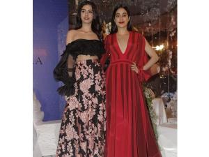 Janhvi Kapoor Khushi Kapoor At Manish Malhotra S Fashion Show