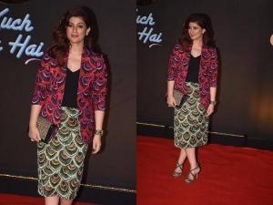 Twinkle Khanna Fashion At 20 Years Celebration Kuch Kuch Hota Hain