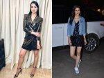 Shraddha Kapoor Kriti Sanon S Blingy Dresses Event Photoshoot