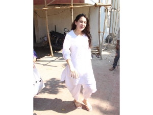 Sara Ali Khan Spotted An All White Outfit Outside Gym