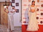 Sara Janhvi Ivory Outfits At Lokmat Most Stylish Awards
