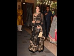 Raveena Tandon A Lehenga At Dinesh Vijan S Wedding