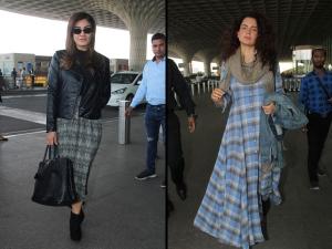 Kangana Ranaut Raveena Tandon Airport Outfits Photoshoot