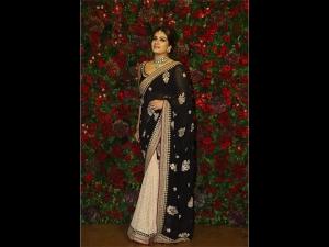 Raveena Tandon A Printed Sari At Deepika Ranveer S Wedding