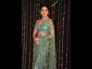 Anushka Sharma A Cocktail Sari At Priyanka Chopra S Wedding Reception