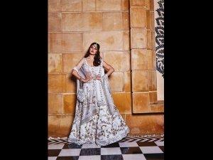 Jacqueline Fernandez S Lehenga At Pre Wedding Bash Isha Ambani