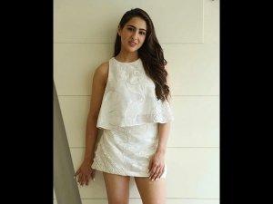 Sara Ali Khan A Cute White Outfit Simbaa Promotions