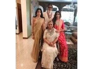 Amitabh Bachchan Family Regal Outfits At Isha Ambani S Wedding At Antilia
