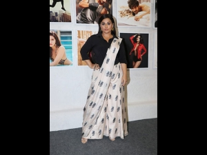 Vidya Balan A Modern Sari At Daboo Ratnani S Calendar Launch Event