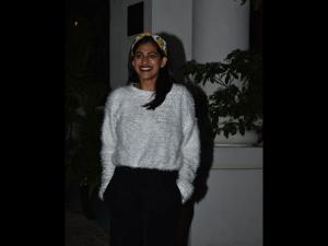 Kubbra Sait Spotted A Winter Wear At Soho House Mumbai