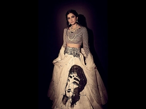 Rhea Kapoor S Hand Painted Ensemble Photoshoot