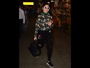 Tamannaah Bhatia S Airport Look Is About Camouflage Style Cat Eyed Frames