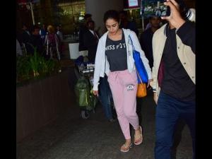 Sara Ali Khan Flaunts Sporty Attire At The Airport
