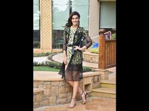 Kriti Sanon A Yellow Dress Luka Chuppi Promotions