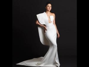 Kiara Advani A White Gown At The Asia Vision Awards