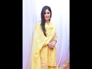 Katrina Kaif A Yellow Suit Anurag Basu S Saraswati Puja