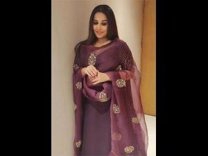 Vidya Balan A Traditional Attire At The Tsr Tv9 Awards