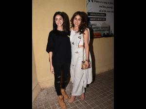 Sara Ali Khan S Spotted Sari Pants At Sonchiriya Screening