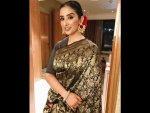 Manisha Koirala A Raw Mango Sari The Outlook Event Bangalore