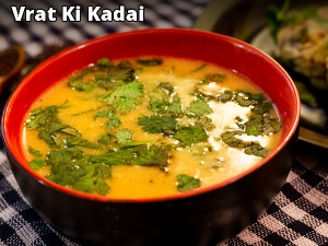 Chestnut Flour Kadhi Recipe: How To Make Vrat Ki Kadhi