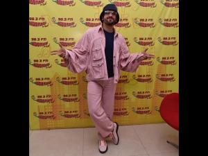 Ranveer Singh A Pink Pantsuit Gully Boy Promotions