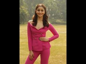Alia Bhatt A Pink Pantsuit Gully Boy Promotions