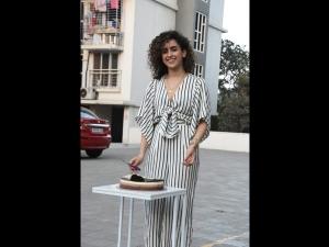 Sanya Malhotra A Striped Outfit Her Birthday Celebrations