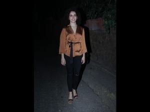 Sanya Malhotra Spotted The City A Classy Avatar