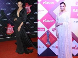 Deepika Padukone A Sari Gown The Award Functions