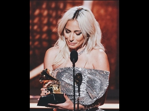 Lady Gaga A Silver Gown At Grammys