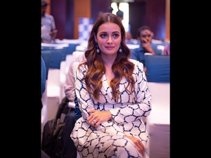 Dia Mirza A Printed Pantsuit The Brita Event Bangalore