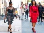 Priyanka Chopra Jonas A Polka Dotted Red Dress Photoshoot