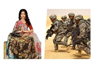 A Surat Saree Designer Makes A Unique Saree That Depicts Balakot Air Strike