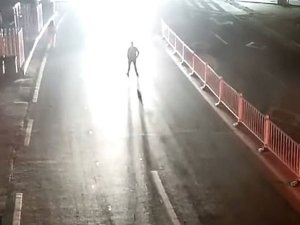 Drunk Man Stood On The Mid Road To Test If His Wife Really Loved Him