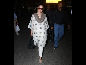 Kareena Kapoor Khan Spotted At The Airport A Quirky Suit